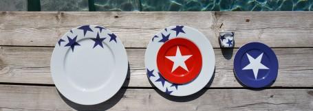 collection bleu par assiettes et compagnie une édition limitée par la maison Revol - fabrication française