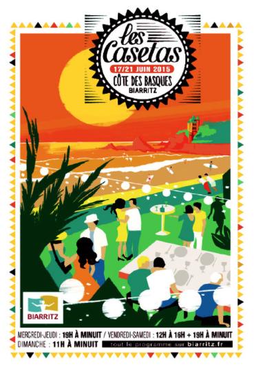 affiche caseras de biarrizt 2015